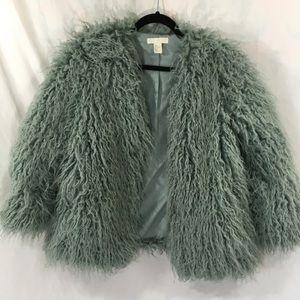 Dusty blue fuzzy jacket